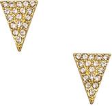 Blu Bijoux Crystal Triangle Stud Earrings