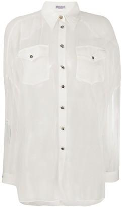 Brunello Cucinelli Sheer Silk Shirt