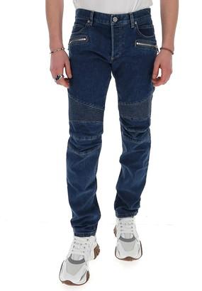 Balmain Zipped Pocket Jeans