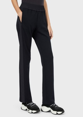 Emporio Armani Jersey Sweatpants With Side Stripes