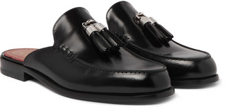 Christian Louboutin Leather Tasseled Backless Loafers
