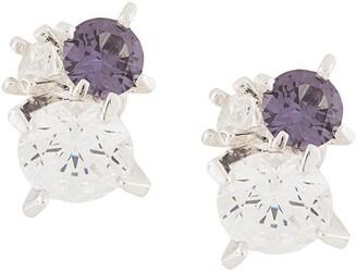 E.m. crystal embellished earrings