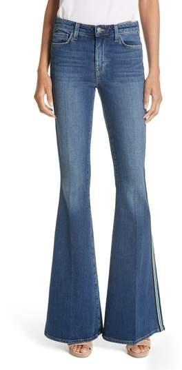 L'Agence Solana Side Stripe Flare Jeans