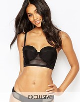 Wolfwhistle Wolf & Whistle Longline Mesh Insert Bikini Top B-G Cup