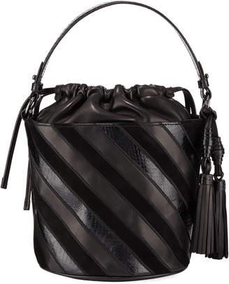 Rafe Katrina Striped Bucket Bag