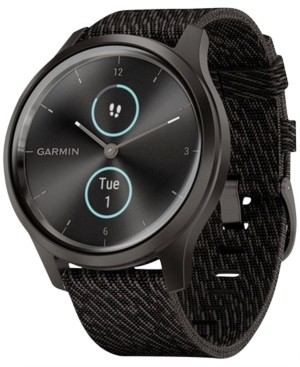 Garmin Unisex vivomove Style Black Pepper Nylon Strap Touchscreen Hybrid Smart Watch 42mm