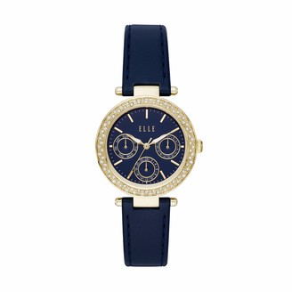 Elle Marais Multifunction Blue Leather Watch
