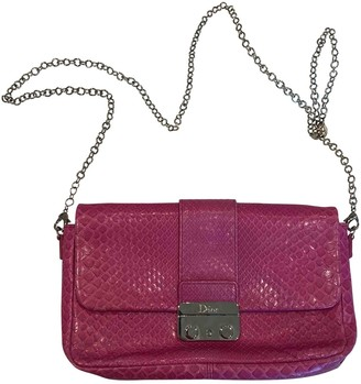 Christian Dior Miss Pink Python Clutch bags