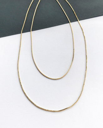 Wanderlust + Co Classic Chain Layered Gold Necklace