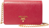 Prada Wallet On A Chain Textured-leather Shoulder Bag - one size