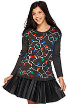 Aeropostale Light Up Holiday Lights Long Sleeve Sweater