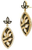 Freida Rothman Women's Fleur Bloom Leaflet Petal Drop Earrings