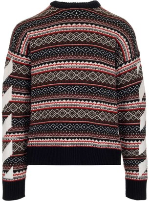 Off-White Agreement Patterned Knitted Sweater