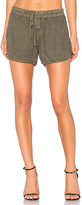 James Perse Drawstring Dolphin Short in Army. - size 0 (XXS/XS) (also in 1 (XS/S))
