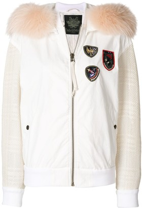 Mr & Mrs Italy Contrasting Sleeves Bomber Jacket