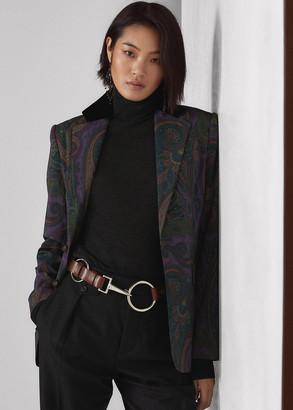 Ralph Lauren Erica Paisley-Print Wool Flannel Jacket