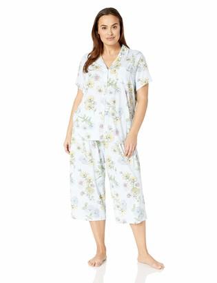 Karen Neuburger Women's Petite Short-Sleeve Girlfriend Crop Pajama Set PJ