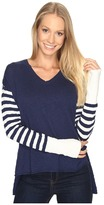 Life is Good V-Neck Slouchy Sweater Women's Sweater