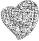 GoldenMine .925 Sterling Rhodium Plated CZ Floating Hearts Design Fashion Charm Pendant