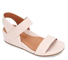 Gentle Souls by Kenneth Cole Women's Gisele Double Band Wedge Sandals
