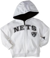 adidas Toddler Fullzip Hoodie, Pink - Brooklyn Nets - 4T