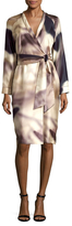 Max Mara Stresa Silk Printed Wrap Dress