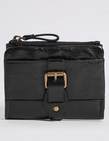 Marks and Spencer Leather Buckle Purse with CardsafeTM