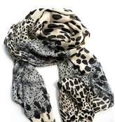 Rokou Women's Soft Chiffon Leopard Shawl Scarf Wrap Pashmina Stole Color