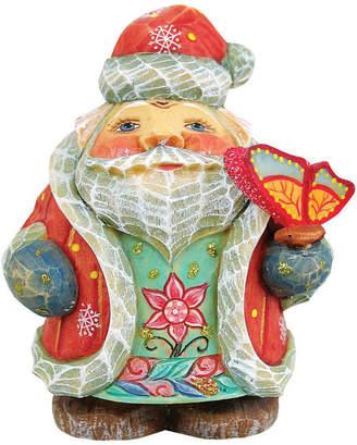 G. Debrekht Artistic Studios Hand Painted Spring Butterfly Santa Figurine Ornament