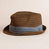 J.Crew Straw trilby hat
