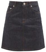 A.P.C. Jupe Standard Raw-denim Mini Skirt - Womens - Indigo