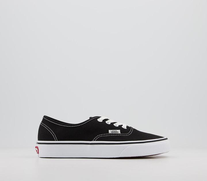 Vans Authentic Trainers Black White