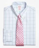 Brooks Brothers Non-Iron Madison Fit Alternating Overcheck Dress Shirt
