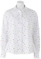 Savile Row Women's Women's White Semi-Fitted Fruit Cocktail Print Shirt - Single