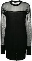 McQ by Alexander McQueen sheer dress - women - Polyester/Spandex/Elastane/Wool - XS