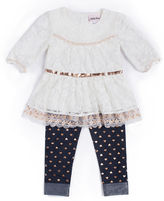 Little Lass 2-pc. Heart Leggings Set -Baby Girls 3m-24m