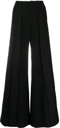 Andrea Ya'aqov Wide Leg Wool Trousers