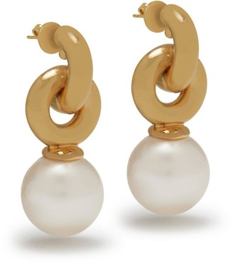 Mulberry Grace Small Earrings Gold and Mother of Pearl Brass and Resin