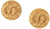 Chanel Pre Owned 1994 baroque CC clip-on earrings
