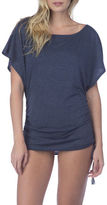 Lucky Brand Shirred Side-Tie Tunic