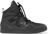 Marc by Marc Jacobs Mesh, leather and acrylic high-top sneakers