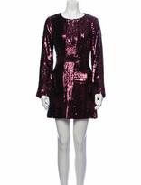 Thumbnail for your product : Tory Burch Aurelia Mini Dress Purple