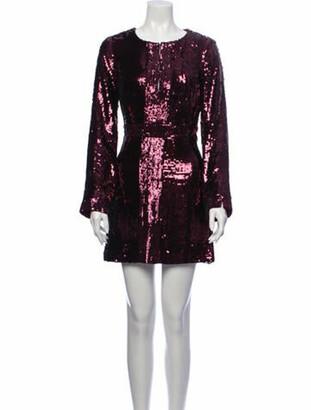 Tory Burch Aurelia Mini Dress Purple