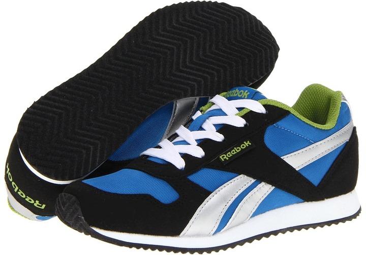 Reebok Kids - Royal Classic Jogger (Little Kid/Big Kid) (Blue Sport/Black/Gusto Green) - Footwear