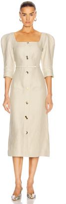 REJINA PYO Leonie Dress in Artichoke Green | FWRD