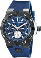 Vince Camuto Men's VC/1010NVTI The Master Black Multi-Function Navy Silicone Strap Watch