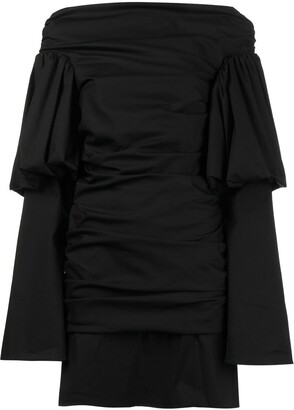 Ellery Cissy Strut Ruched Mini Dress