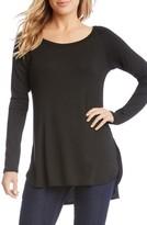 Karen Kane Women's Shirttail Hem Long Sleeve Tee