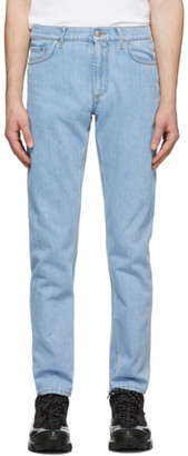 Burberry Blue Japanese Denim Straight-Fit Jeans