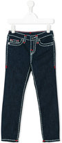 True Religion stitching contrast jeans